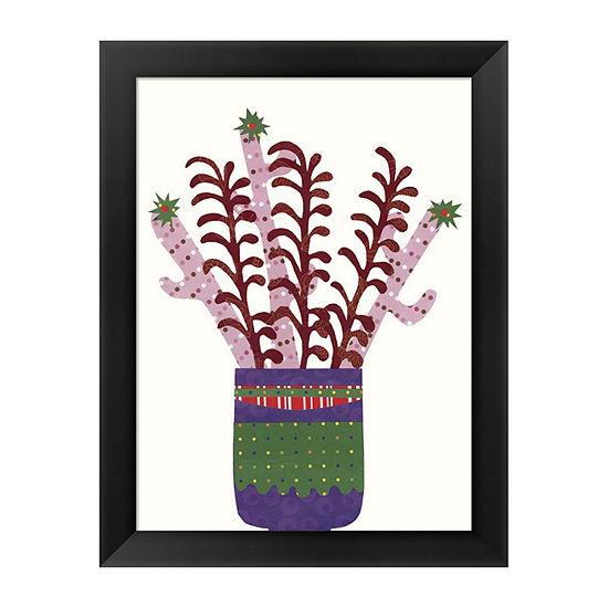 Metaverse Art Cheerful Succulent II Framed Wall Art