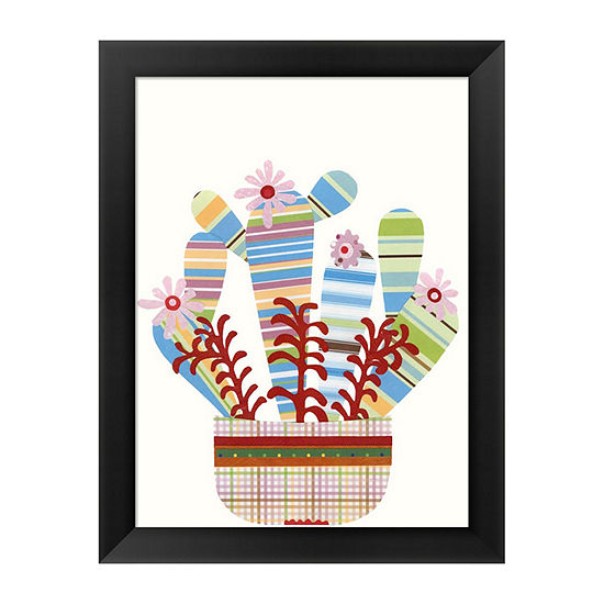 Metaverse Art Cheerful Succulent VI Framed Wall Art