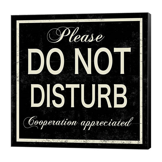 Metaverse Art Do Not Disturb Canvas Art