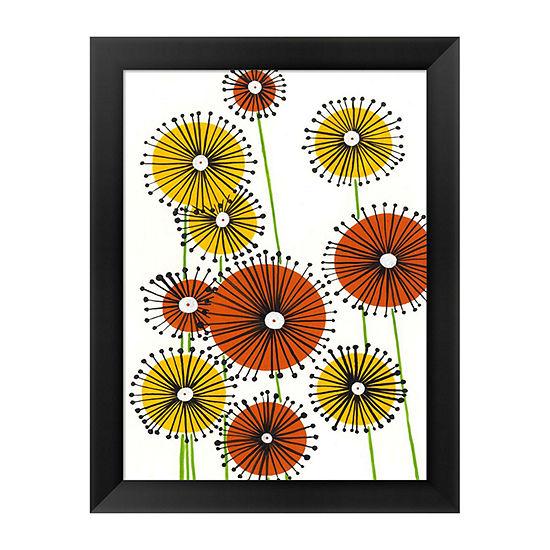 Metaverse Art Flower Wheels I Framed Wall Art