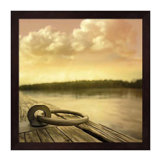 Metaverse Art Dockside Framed Wall Art