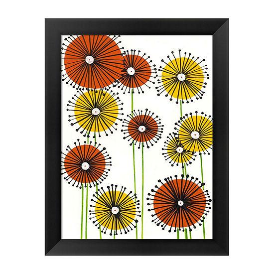Metaverse Art Flower Wheels II Framed Wall Art