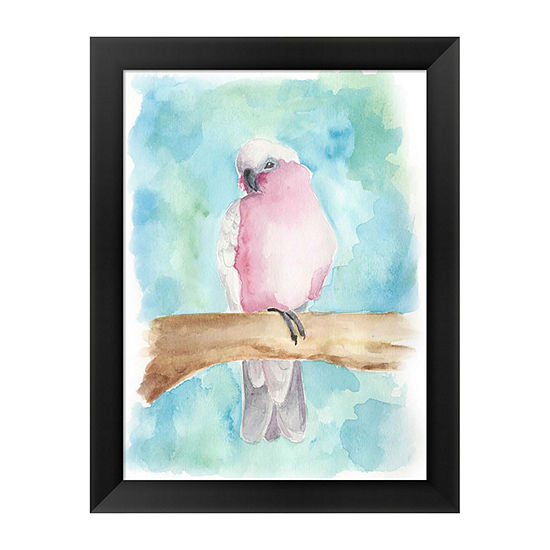 Metaverse Art Sweet Tropical Bird III Framed WallArt