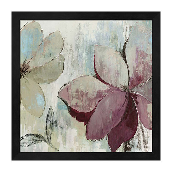Metaverse Art Drippy Floral Ii Framed Wall Art