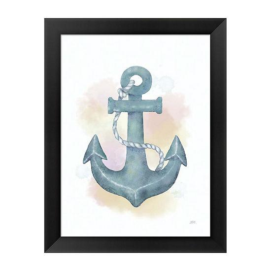 Metaverse Art Watercolor Anchor Framed Wall Art