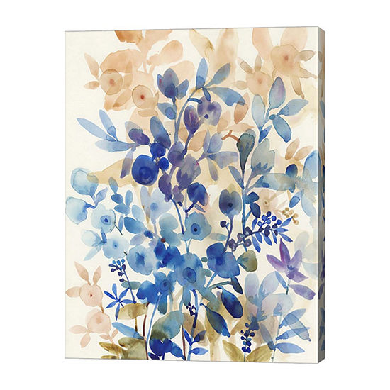 Metaverse Art Blueberry Floral I Canvas Wall Art