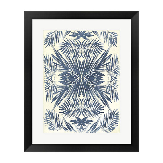 Metaverse Art Tropical Kaleidoscope II Framed Wall Art