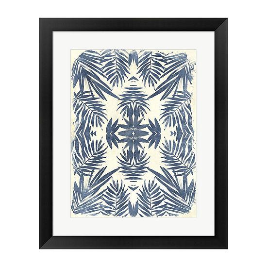 Metaverse Art Tropical Kaleidoscope IV Framed Wall Art