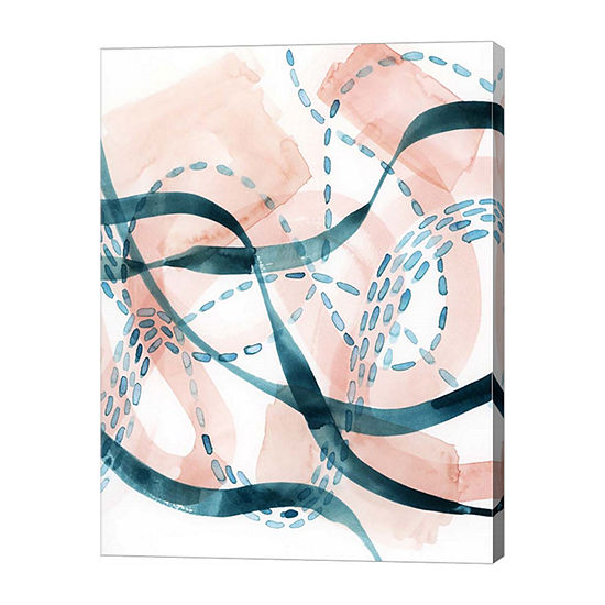 Metaverse Art Ripple Flux Ii Canvas Wall Art