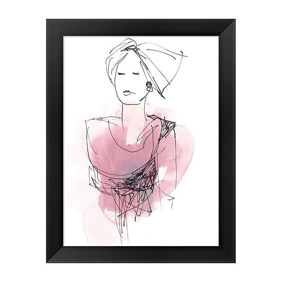 Metaverse Art Fashion Splash V Framed Wall Art