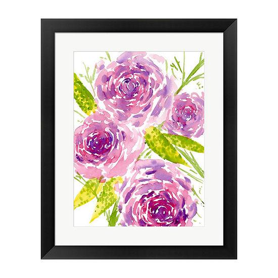 Metaverse Art Bouquet Rose II Framed Wall Art
