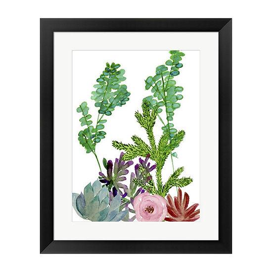 Metaverse Art Little Garden I Framed Wall Art