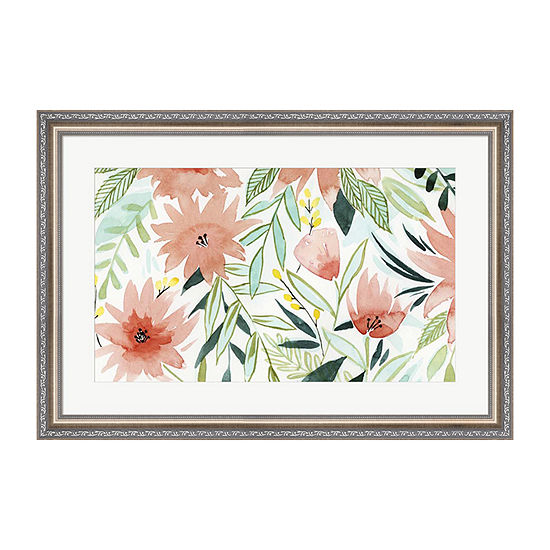 Metaverse Art Tropical Drift III Framed Wall Art