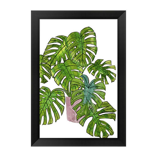 Metaverse Art Potted Jungle I Framed Wall Art