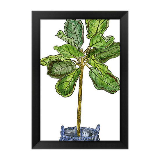 Metaverse Art Potted Jungle Iv Framed Wall Art