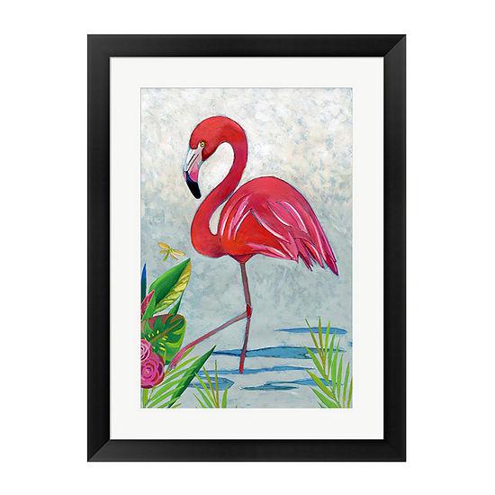 Metaverse Art Vivid Flamingo I Framed Wall Art