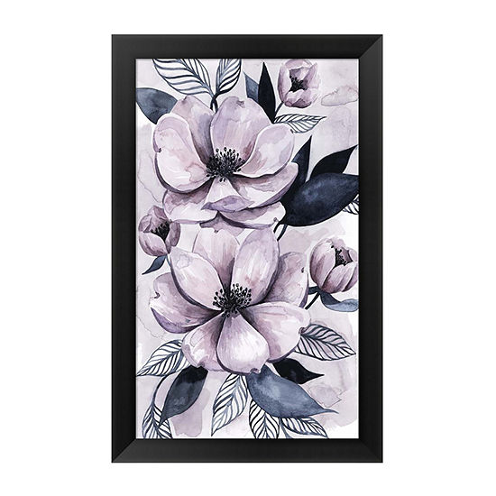 Metaverse Art Lavender Burst I Framed Wall Art