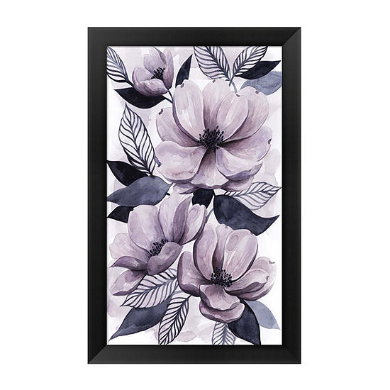 Metaverse Art Lavender Burst II Framed Wall Art