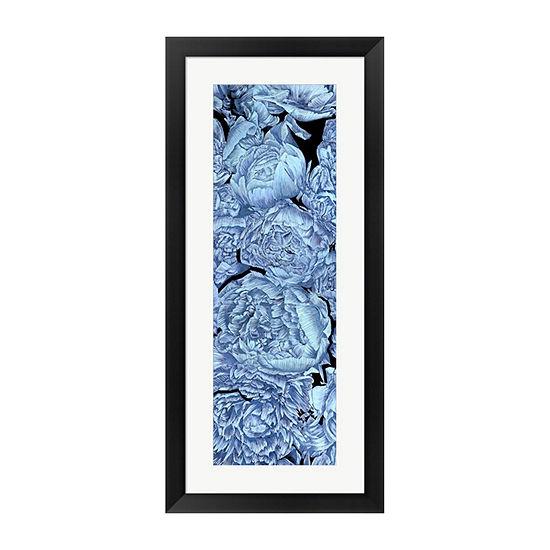 Metaverse Art Blue Peonies II Framed Wall Art