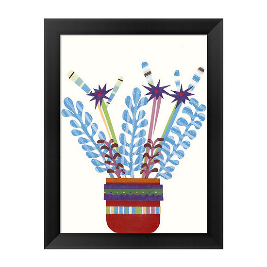 Metaverse Art Cheerful Succulent Iv Framed Wall Art