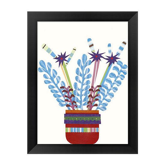Metaverse Art Cheerful Succulent IV Framed Wall Art