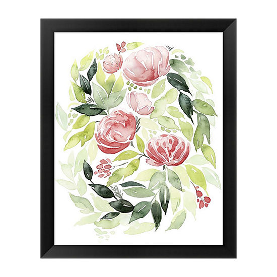 Metaverse Art Buoyant Bouquet Ii Framed Wall Art