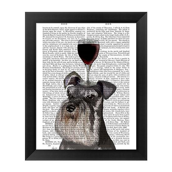 Metaverse Art Dog Au Vin Schnauzer Framed Wall Art