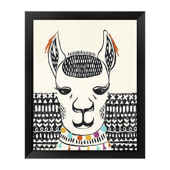 Metaverse Art Party Llama IV Framed Wall Art