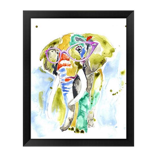 Metaverse Art Smarty-Pants Elephant Framed Wall Art