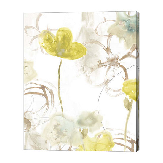 Metaverse Art Floral Arc II Canvas Wall Art