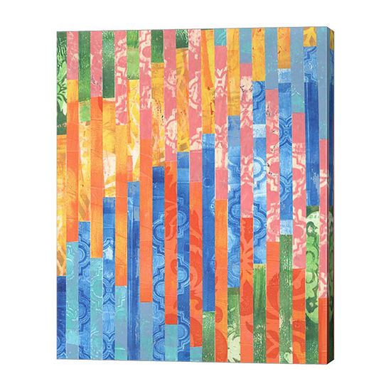 Metaverse Art Quilted Monoprints V Canvas Wall Art