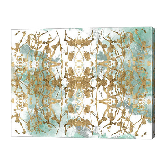 Metaverse Art Verdant Mirror Ii Canvas Wall Art