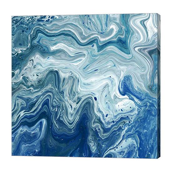 Metaverse Art Indigo Minerals I Canvas Wall Art