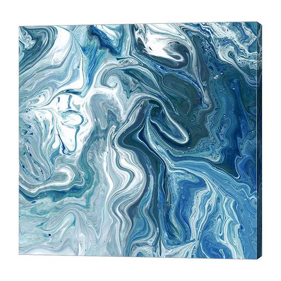 Metaverse Art Indigo Minerals II Canvas Wall Art