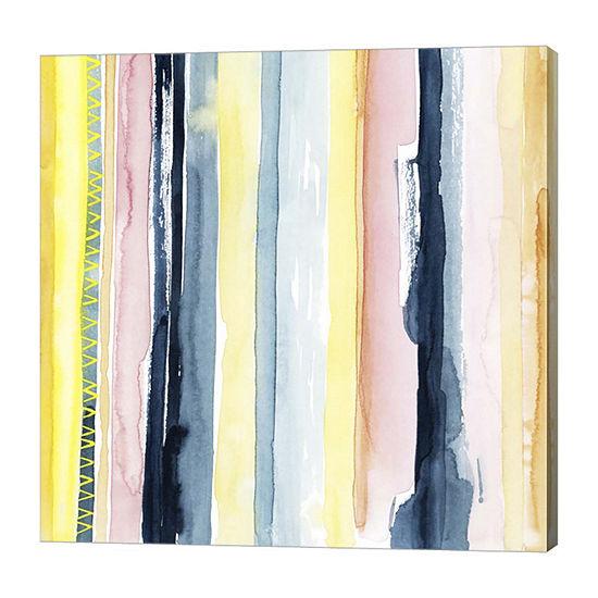 Metaverse Art Sunset Stream I Canvas Wall Art