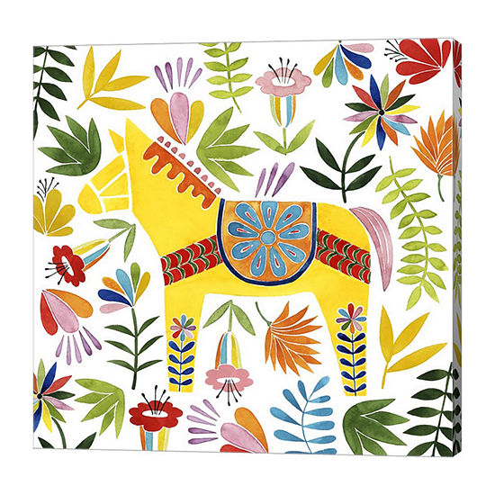 Metaverse Art Festive Otomi III Canvas Wall Art