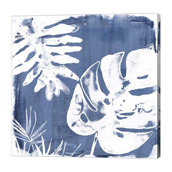 Metaverse Art Tropical Indigo Impressions IV Canvas Wall Art