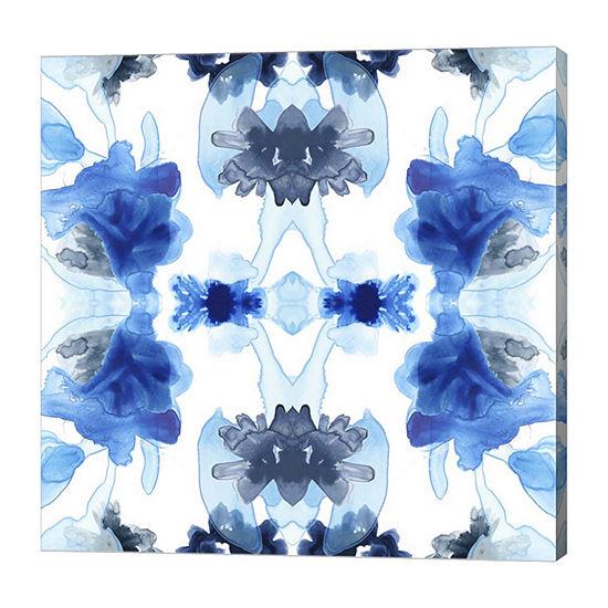 Metaverse Art Blue Kaleidoscope II Canvas Wall Art