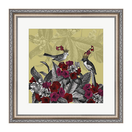 Metaverse Art Blooming Birds  Azalea  Fine Art Print Framed Wall Art