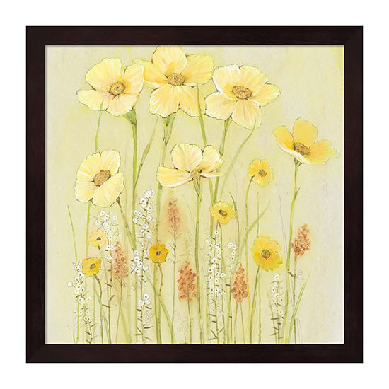 Metaverse Art Soft Spring Floral I Framed Wall Art