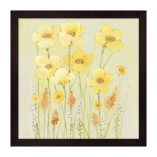 Metaverse Art Soft Spring Floral II Framed Wall Art
