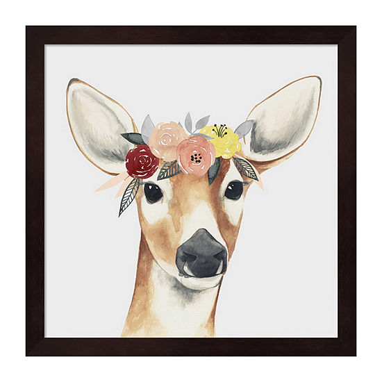 Metaverse Art Flower Crown Forester I Framed WallArt