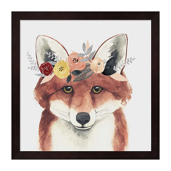 Metaverse Art Flower Crown Forester IV Framed Wall Art