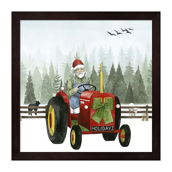 Metaverse Art Country Santa I Framed Wall Art