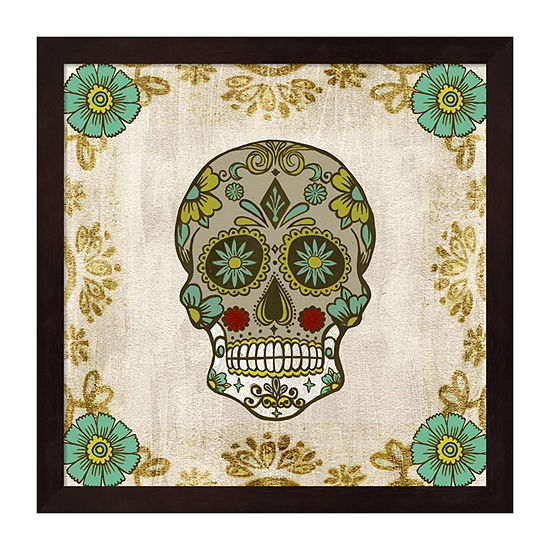 Metaverse Art Day of the Dead I Framed Wall Art
