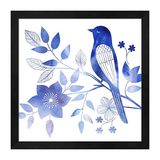 Metaverse Art Avian Twilight I Framed Wall Art