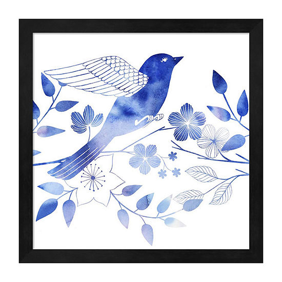 Metaverse Art Avian Twilight II Framed Wall Art