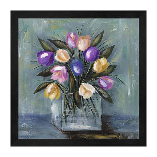Metaverse Art Mixed Pastel Bouquet II Framed Wall Art
