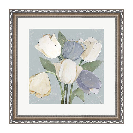 Metaverse Art French Tulips II Framed Wall Art