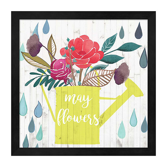Metaverse Art April Showers & May Flowers II Framed Wall Art